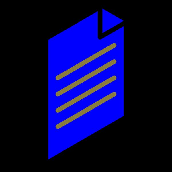 Blue File PNG Clip art