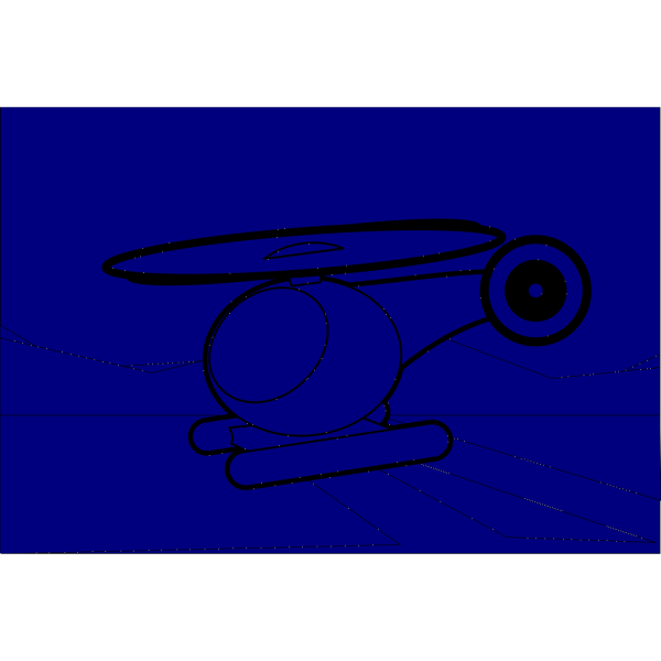 Helicopter Blue PNG Clip art