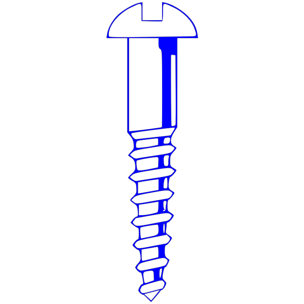 Wood Screw Blue PNG Clip art