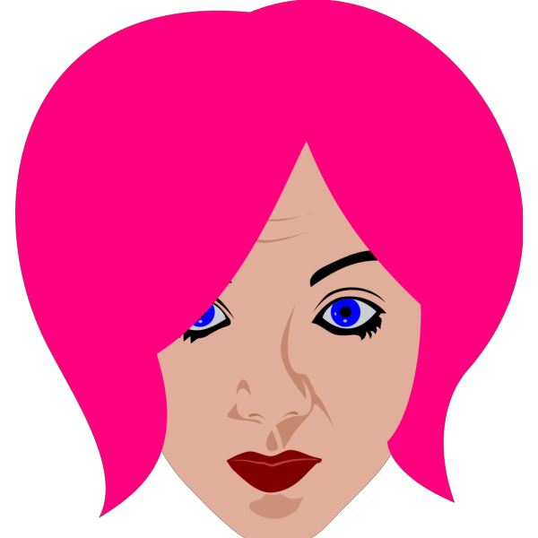 Pink Haired Woman PNG Clip art