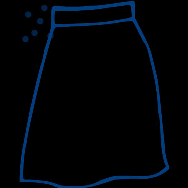Blue Dot Skirt PNG Clip art