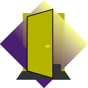 Door Blue PNG Clip art