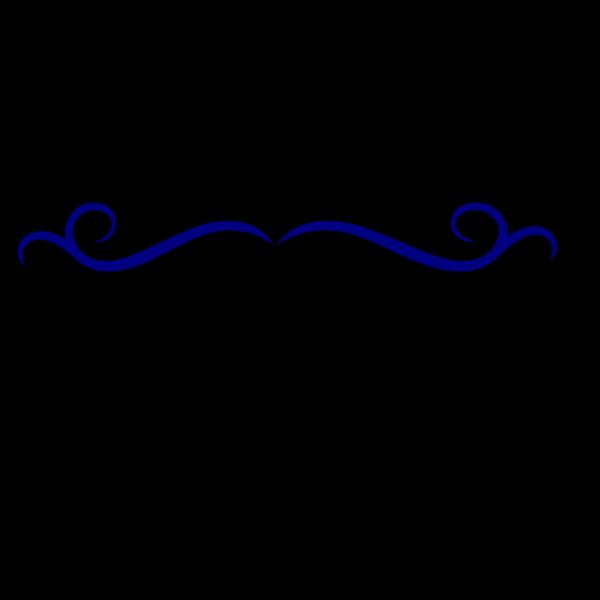Blue Swirl Divider PNG Clip art