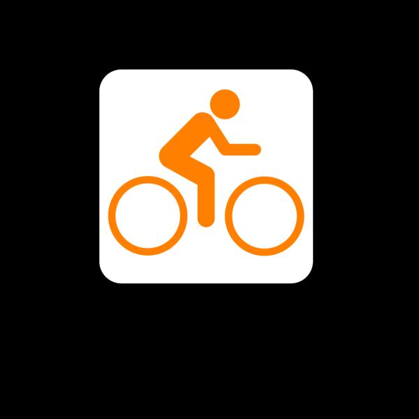 Orange Bicycle PNG Clip art