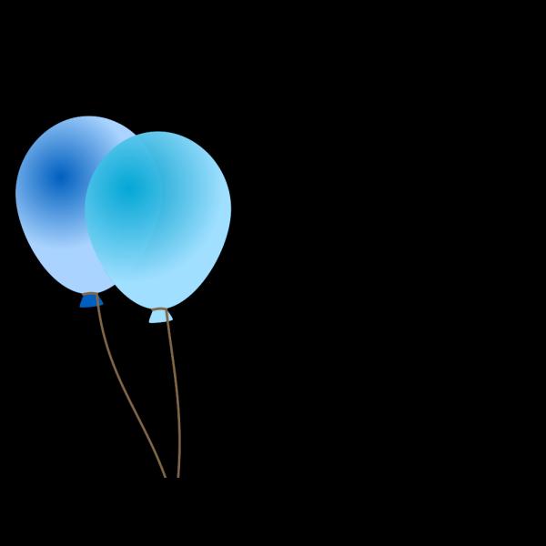 Emmas Blue Balloons PNG Clip art