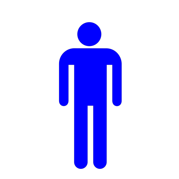 Blue Restroom Man PNG Clip art