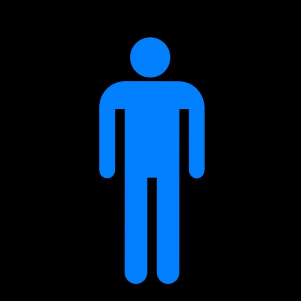 Blue Restroom Man 2 PNG Clip art