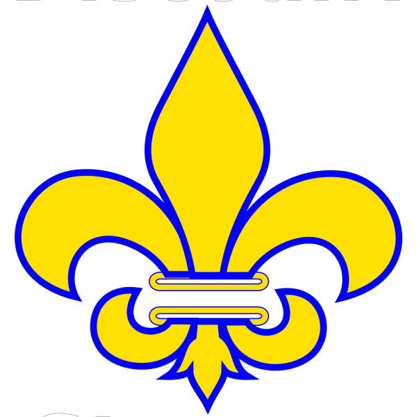 Fleur De Lis Gold With White PNG Clip art