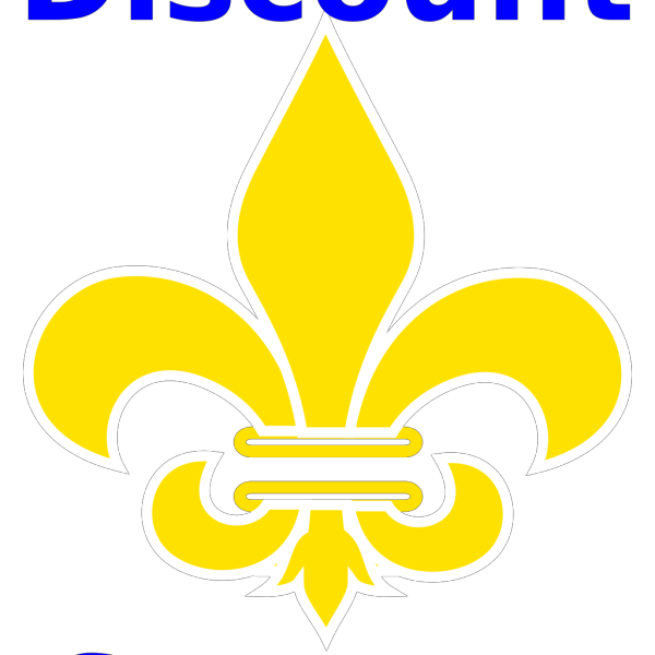 Fleur De Lis Gold With White PNG images