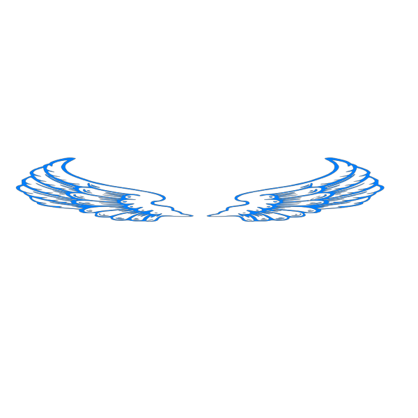 Blue Angel Wings PNG Clip art