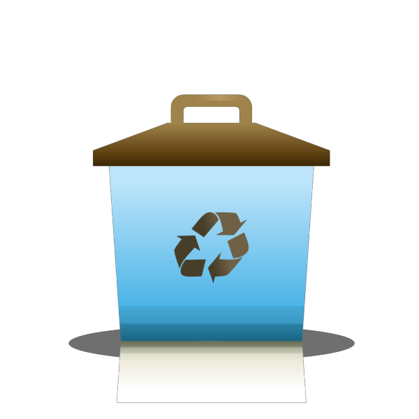 Blue Recycling Container PNG Clip art