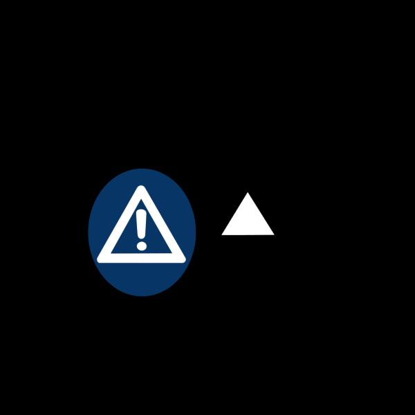 Blue Caution Sign PNG Clip art
