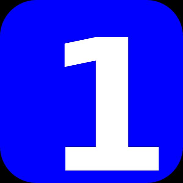 Blue Number 2 PNG Clip art