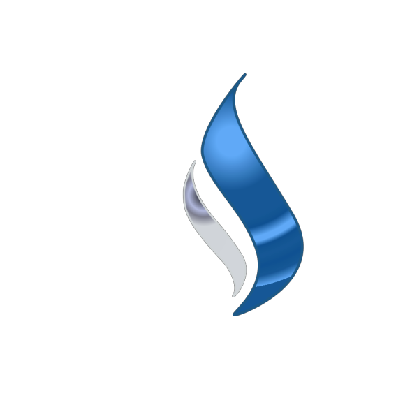 Blue Silver Flame PNG Clip art