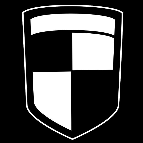Shield Upper Right Blue PNG Clip art