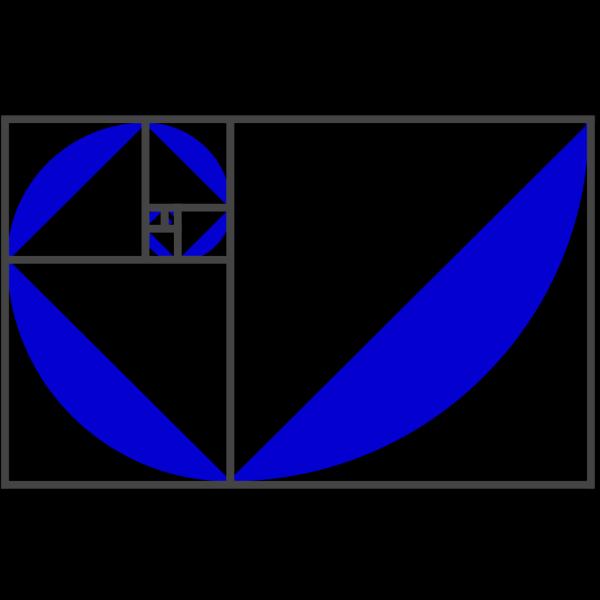 Fibonacci Spiral Blue/purple PNG Clip art