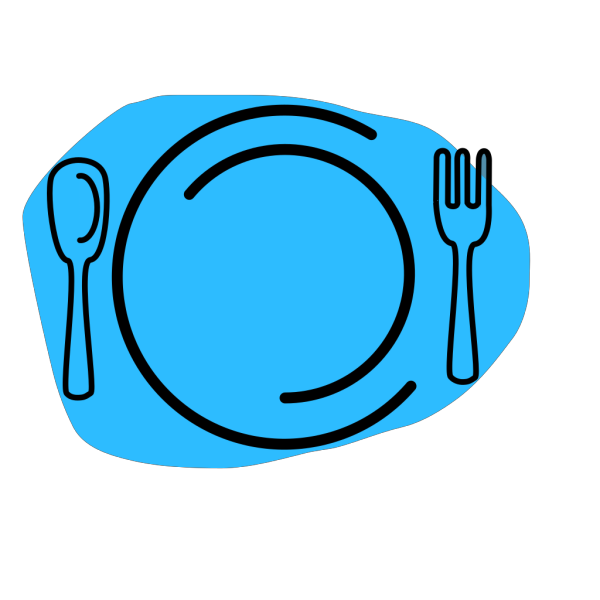Blue Plate Special PNG Clip art