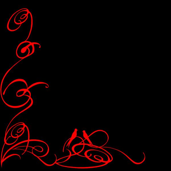 Decorative Swirl Dark Blue PNG Clip art