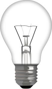 Blue And Black Light Bulb PNG Clip art