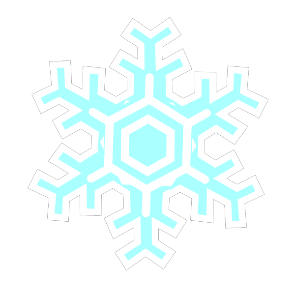Inverted Snowflake PNG Clip art