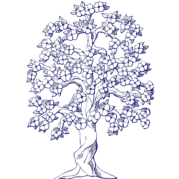 Blue Tree PNG icons