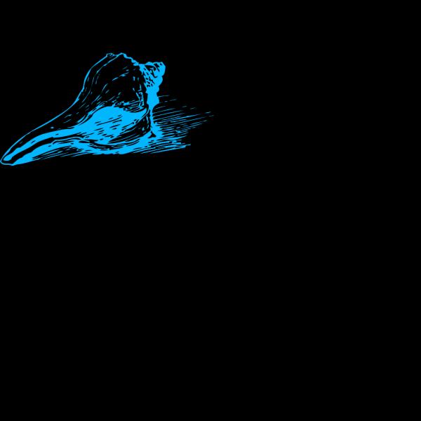 Blue Sea Shell PNG Clip art