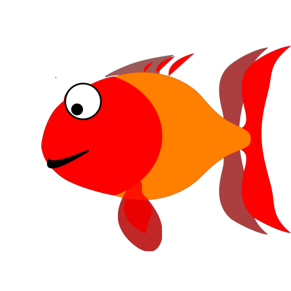 Blue Happy Fish PNG Clip art