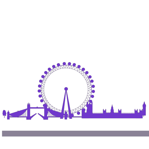 Blue London Skyline PNG Clip art