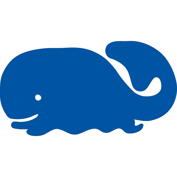 Blue Whale Cartoon Silhouette PNG Clip art