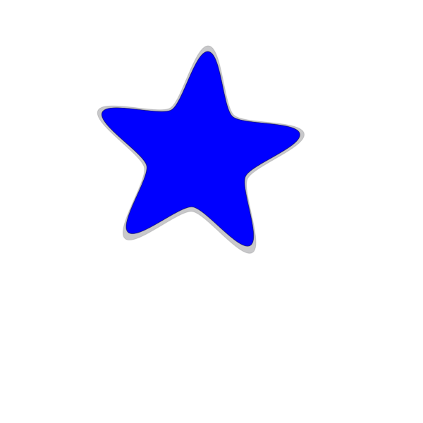 White Blue Star PNG Clip art