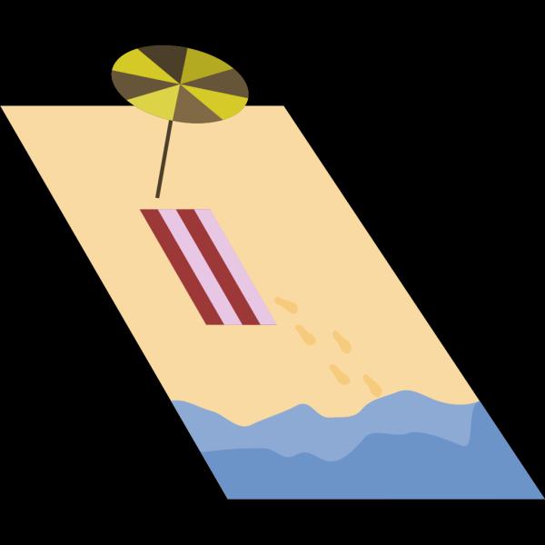 Beached Santa PNG Clip art