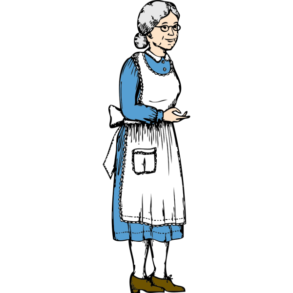 Grandma W Blue Hair PNG Clip art