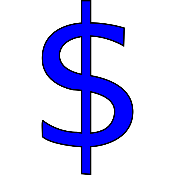 Blue $ Sign PNG icon