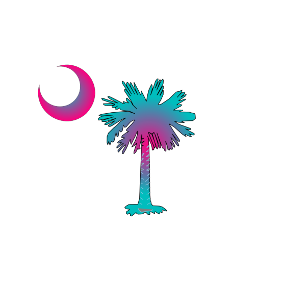 Sc Palmetto Tree - Blue PNG Clip art