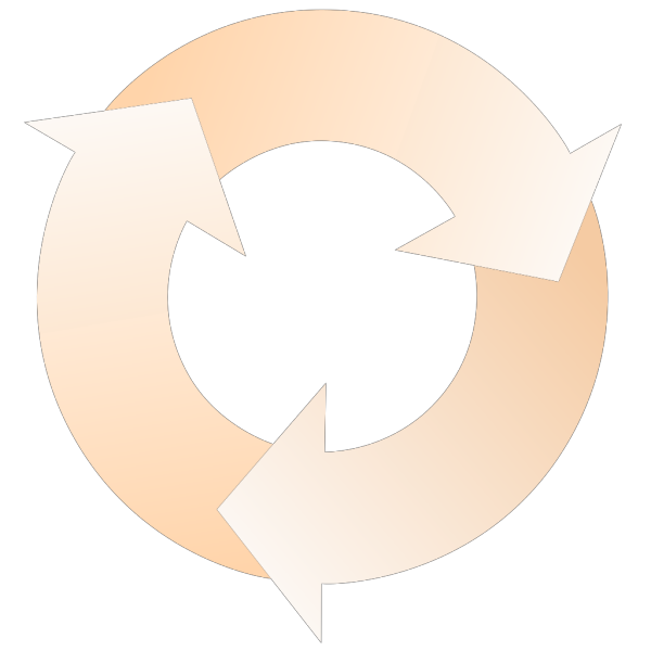 Gold Circular Arrows PNG Clip art