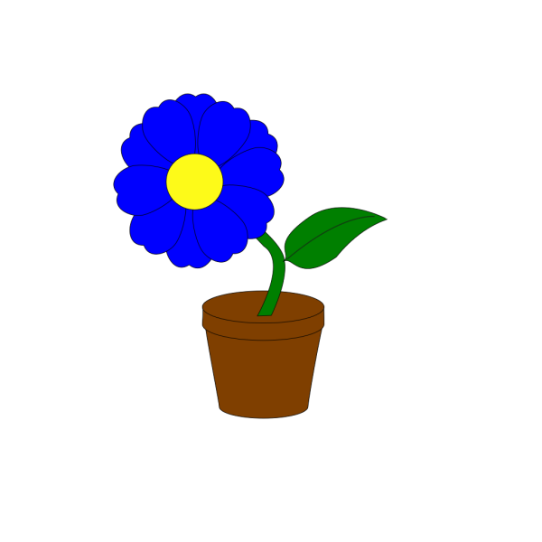 Blue Flower No Stem PNG Clip art