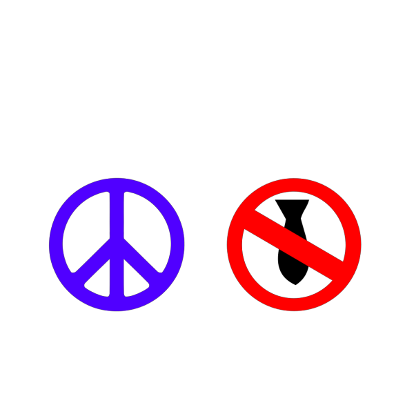 Spread Peace Not Bombs Blue Red PNG images