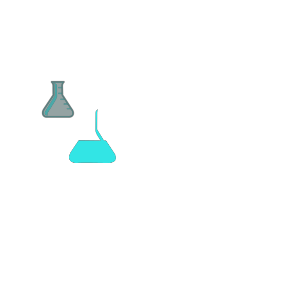 Light Blue Flask Lab PNG Clip art