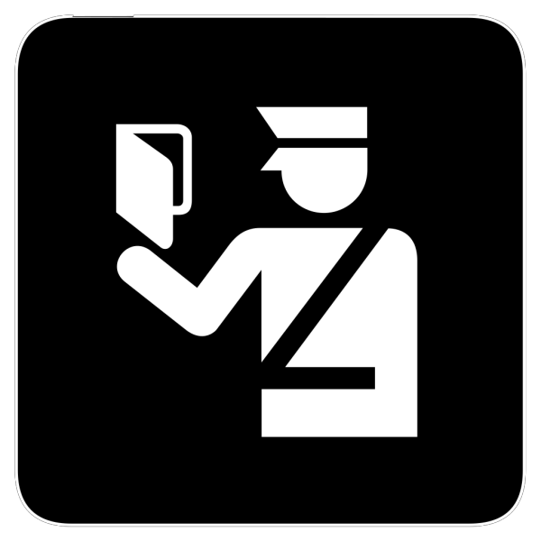 Immigration Police In Bright Blue PNG Clip art