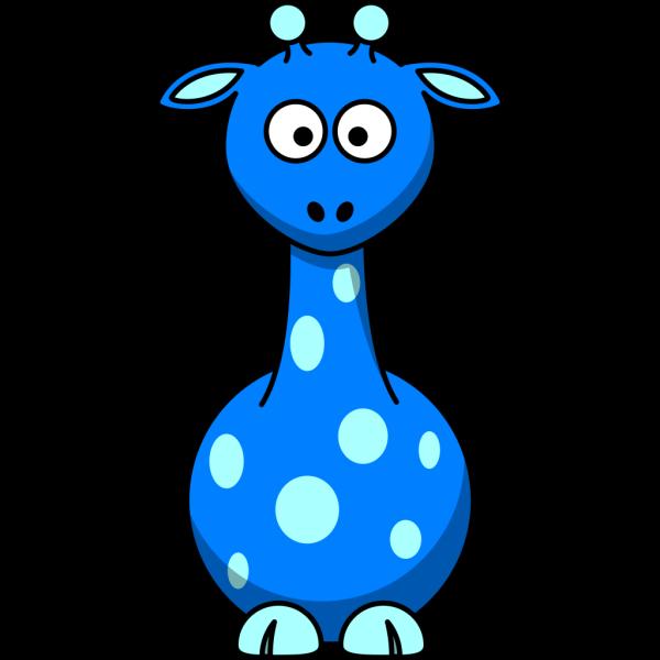 Blue Giraffe PNG Clip art