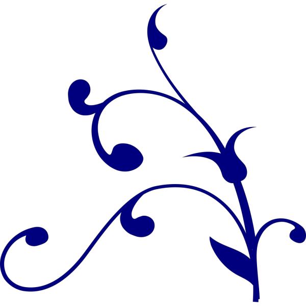 White Flourish W Blue Outline PNG Clip art