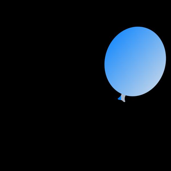 New Blue Balloon - Light Lft PNG Clip art