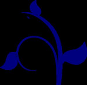 Leaf Swirl Blue PNG Clip art