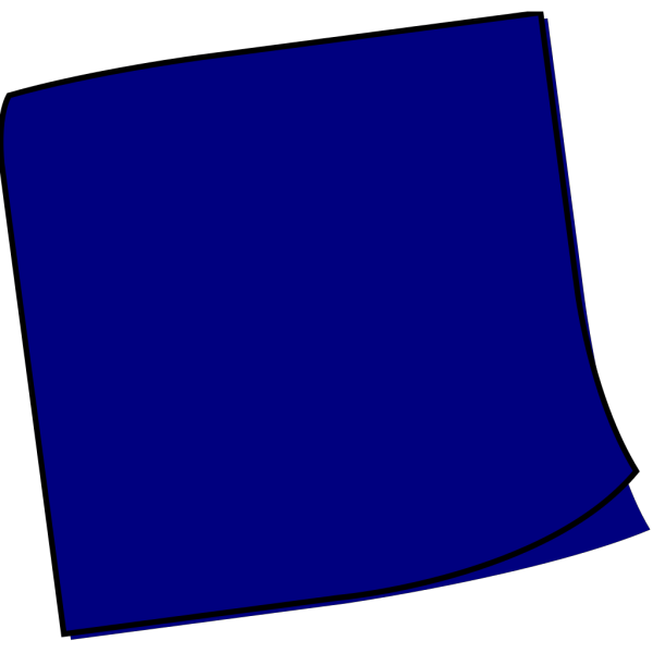 Dark Blue Sticky Note PNG icon
