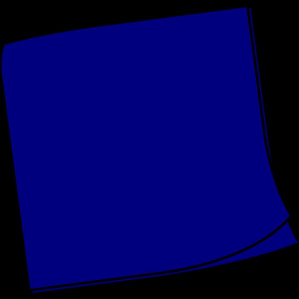 Dark Blue Sticky Note PNG Clip art
