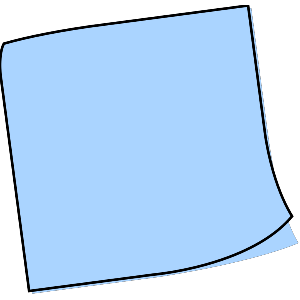 Light Blue Sticky Note PNG Clip art