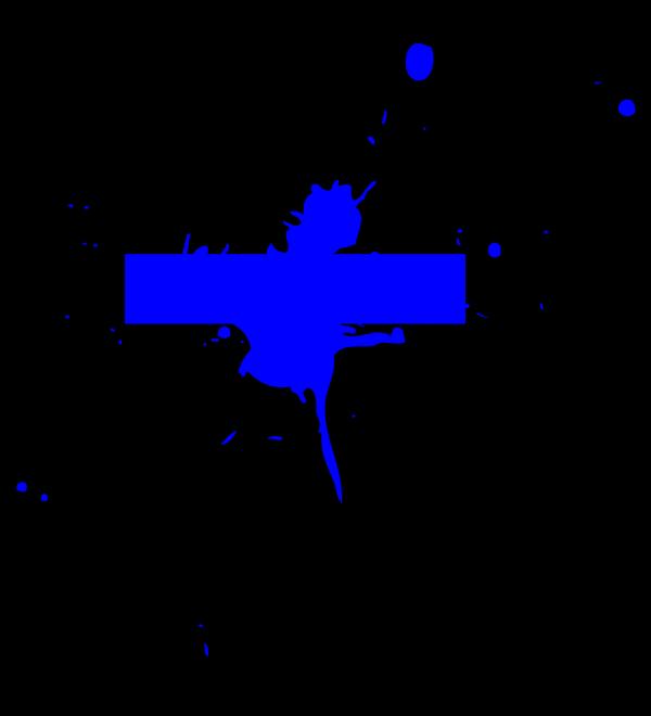 Blue Dot Splat PNG Clip art