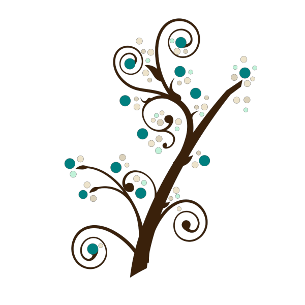 Blue Tree Branch PNG Clip art