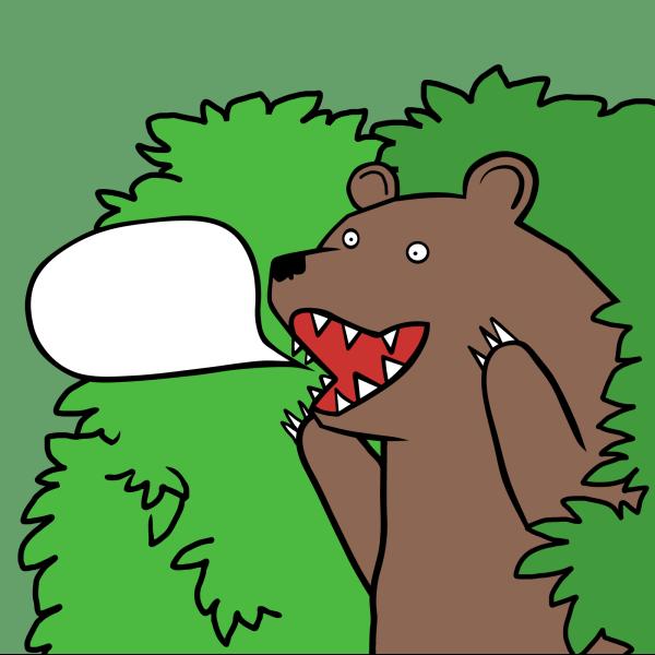 Bear In Circle PNG Clip art