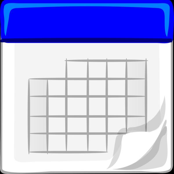 Blue Calendar PNG Clip art